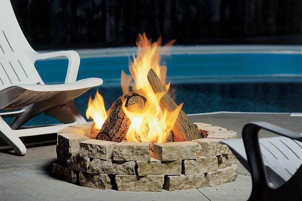 Fire pit fp2085log85 by kingsman fire pit backyard