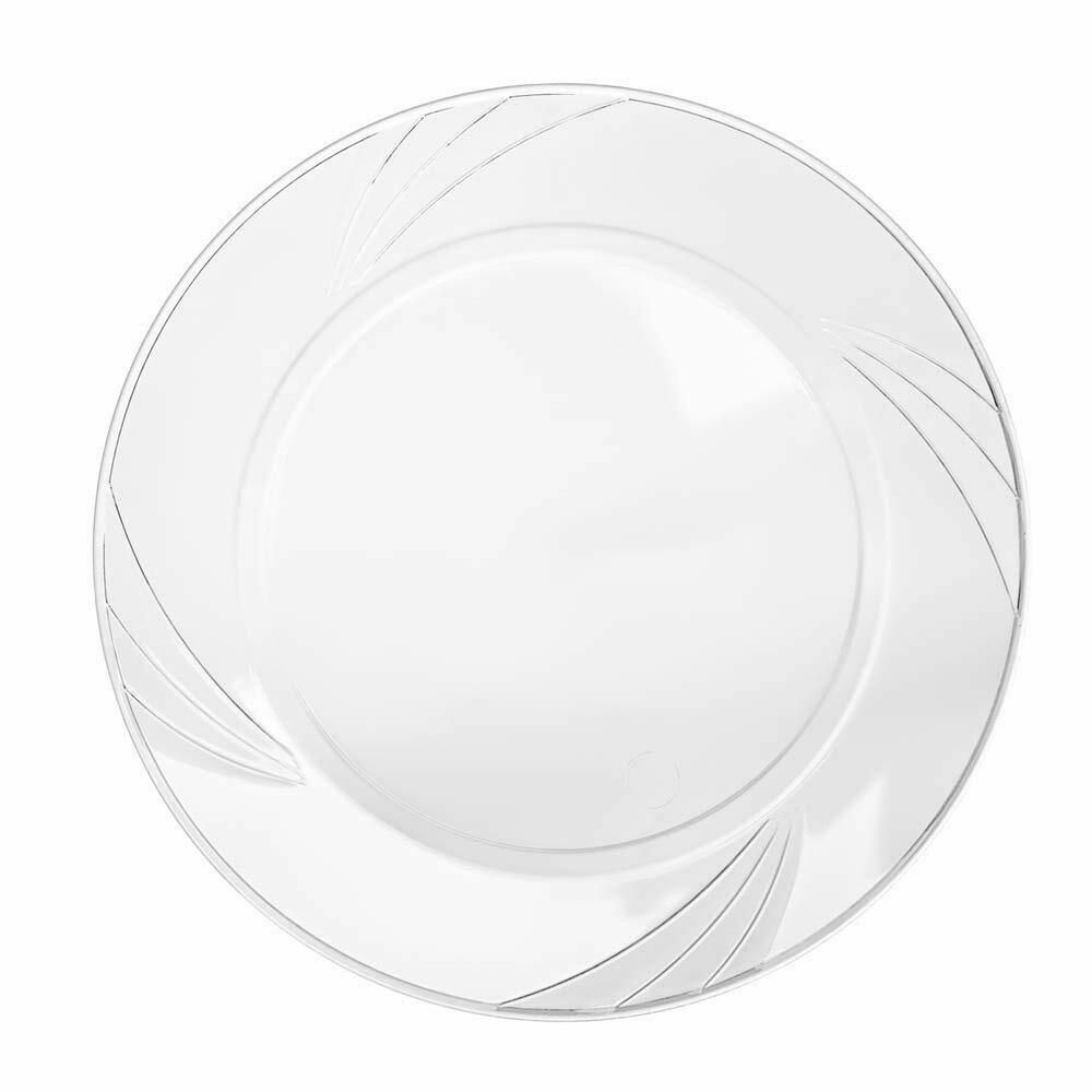 Disposable Clear Plastic Plate 100 Pack 9 Round Dinner Plate For Parties Clear Plastic Plates Plates Gold Plastic Plates