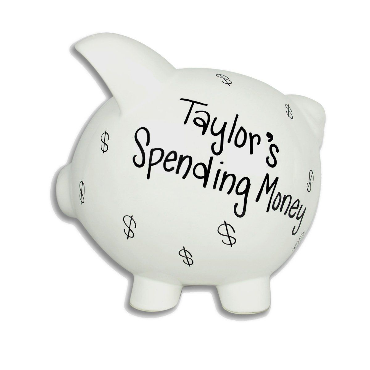 Grown Up S Piggy Bank Piggy Bank Large Piggy Bank Personalized Piggy Bank