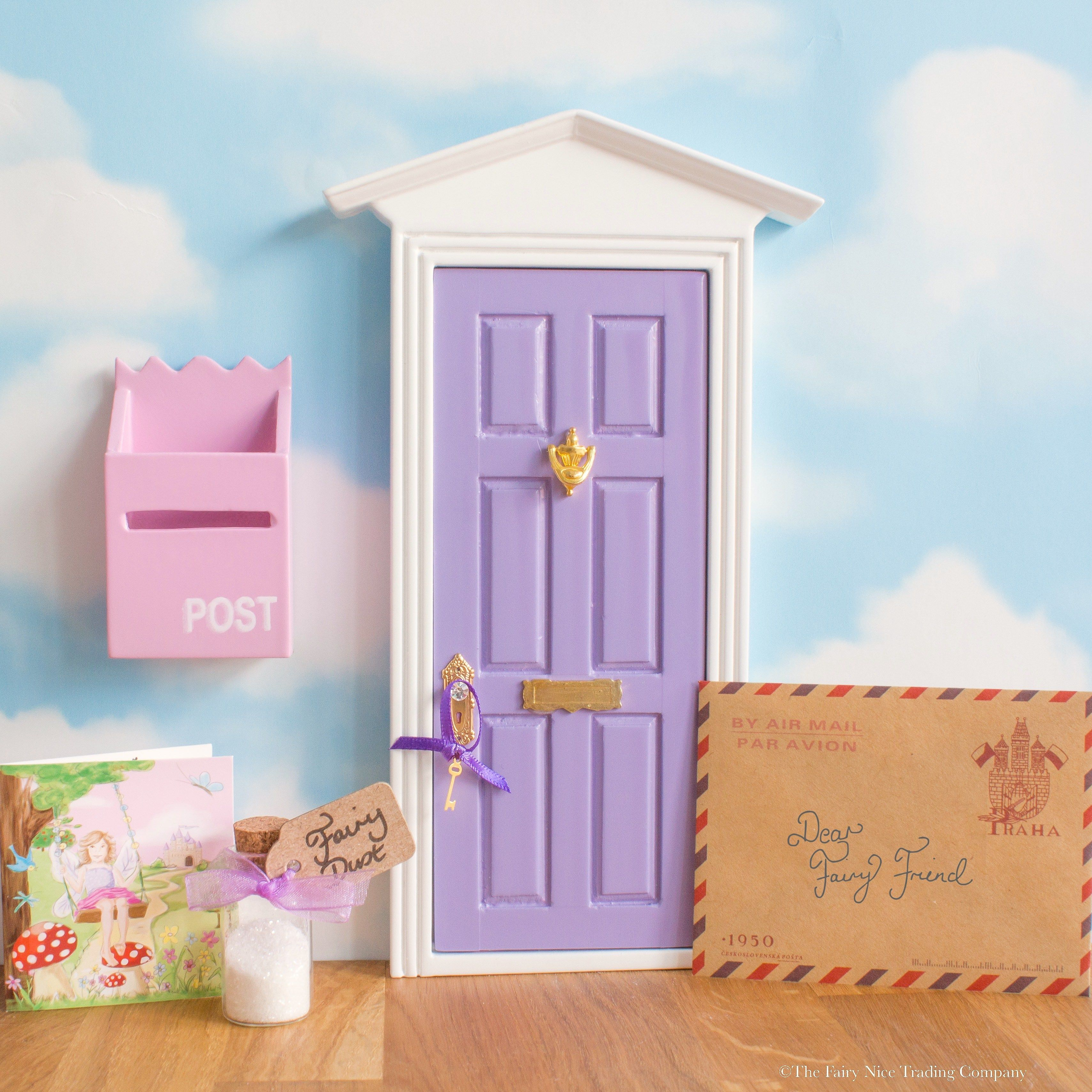 This pretty purple Fairy door comes with a personalised letter from the Fairies and a tiny magic Fairy Key, wrapped in sparkling tissue in a luxury gift box