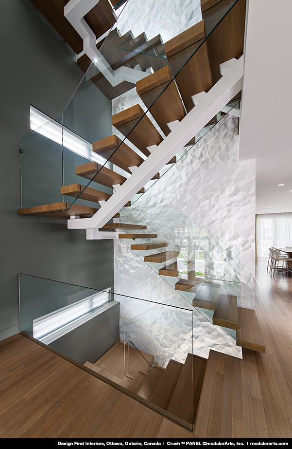 Design First Interiors, Ottowa, Ontario, Canada Crush™ PANEL - diseo de escaleras interiores
