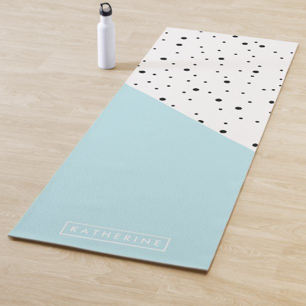 Cute Dots Pattern Yoga Mat | Zazzle.com