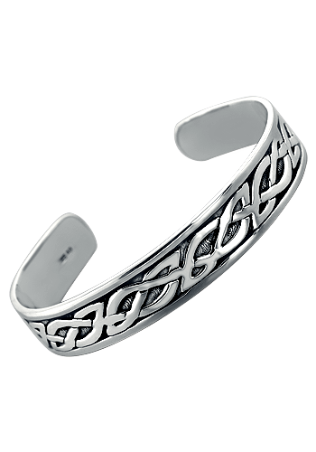 5d8e942d9 Men's Solid Sterling Silver Celtic Cuff Bracelet - Jewelry for Men ...