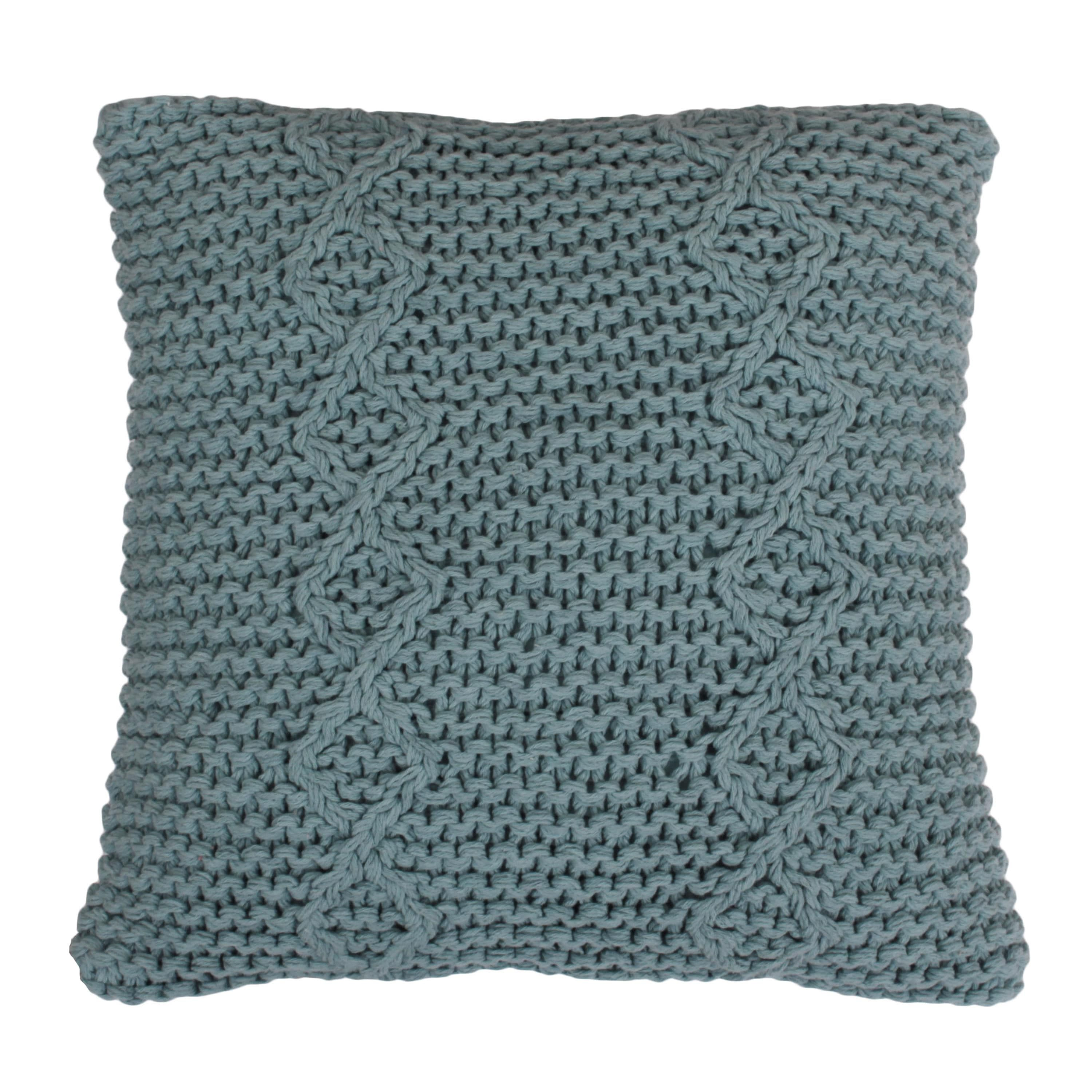 Thro logan knitted inch throw pillow pink size x cotton