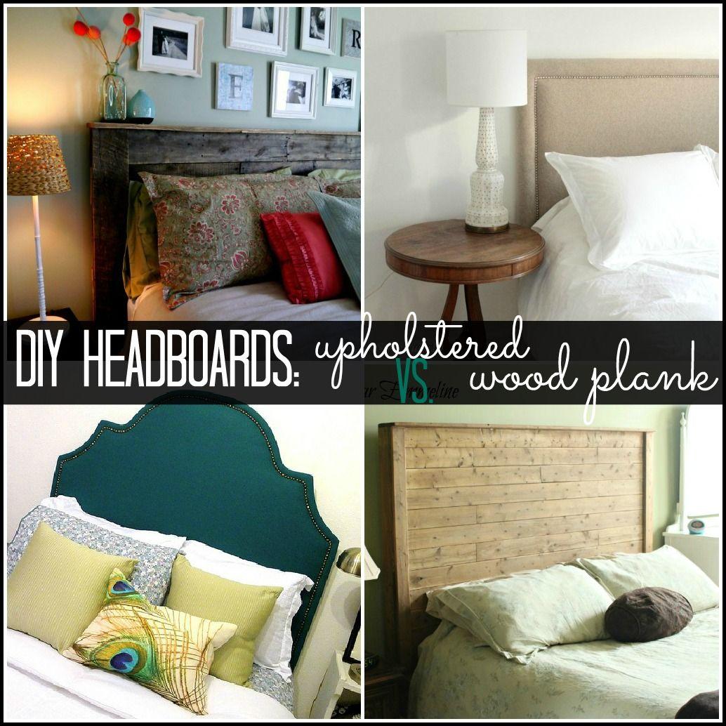 diy headboard ideas upholstered or wood plank diy pinterest. Black Bedroom Furniture Sets. Home Design Ideas