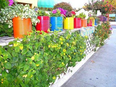 Vasinhos de latas