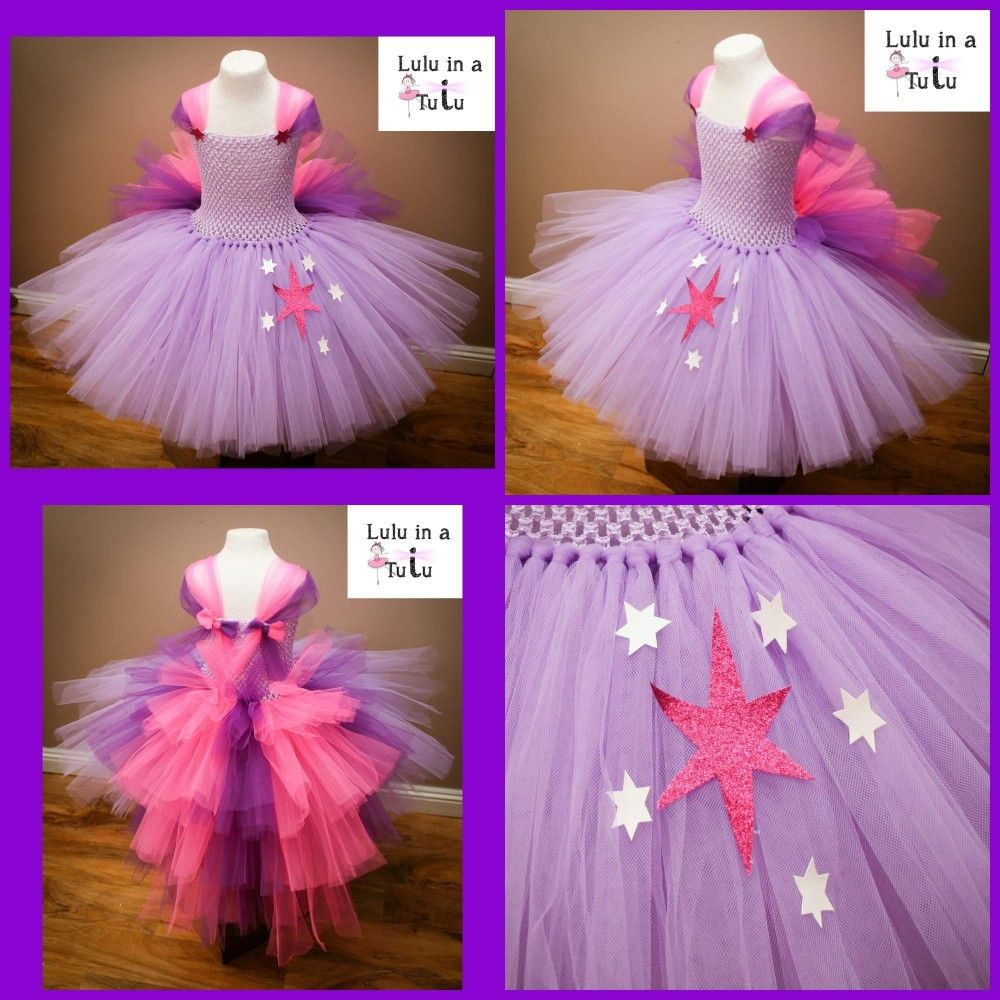 Inspired Tutu Dress Handmade Ages 1 to 12 Pinkie Pie My Little Pony
