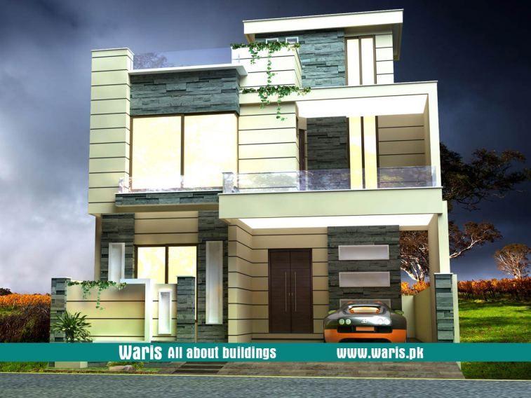 Waris house  view elevation  in dc colony gujranwala pakistan modern exterior designs also zubair khan rannazubair on pinterest rh