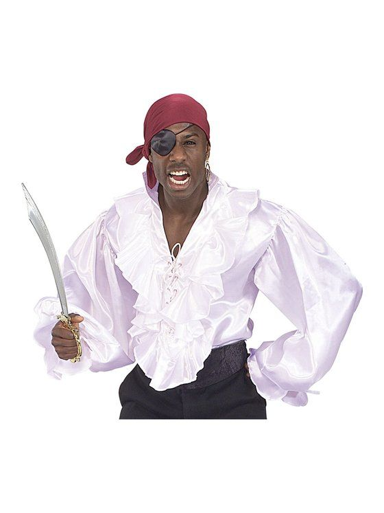 Satin Pirate Shirt Adult Costume Costume ideas Pinterest - halloween costumes ideas for men