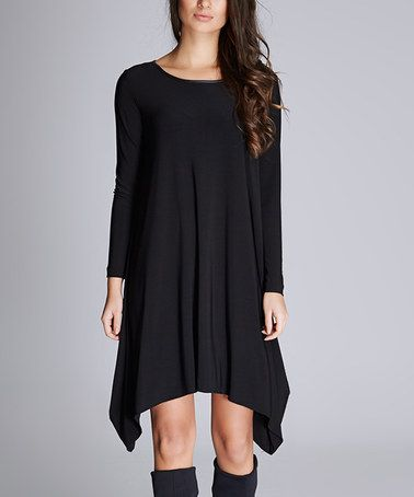Another great find on #zulily! Black Sidetail Dress #zulilyfinds