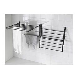 ikea portis drying rack wall simple to fold down and secure in the built in hooks when you. Black Bedroom Furniture Sets. Home Design Ideas