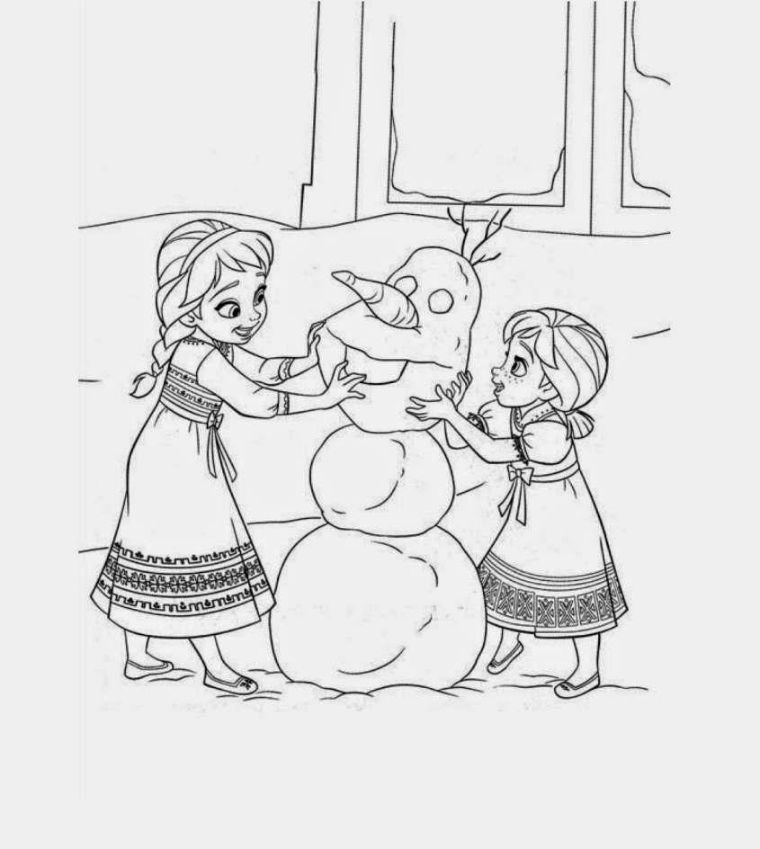 Frozen Disegni Da Stampare E Colorare Un Disegno Di Frozen