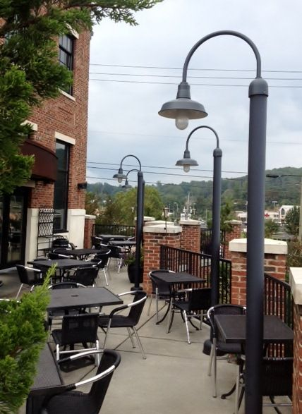 Great Post Mount Lighting Brightens Outdoor Patio Parks With Style