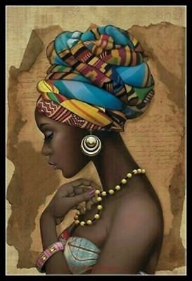 African Girl - Counted Cross Stitch Patterns Needlework embroidery