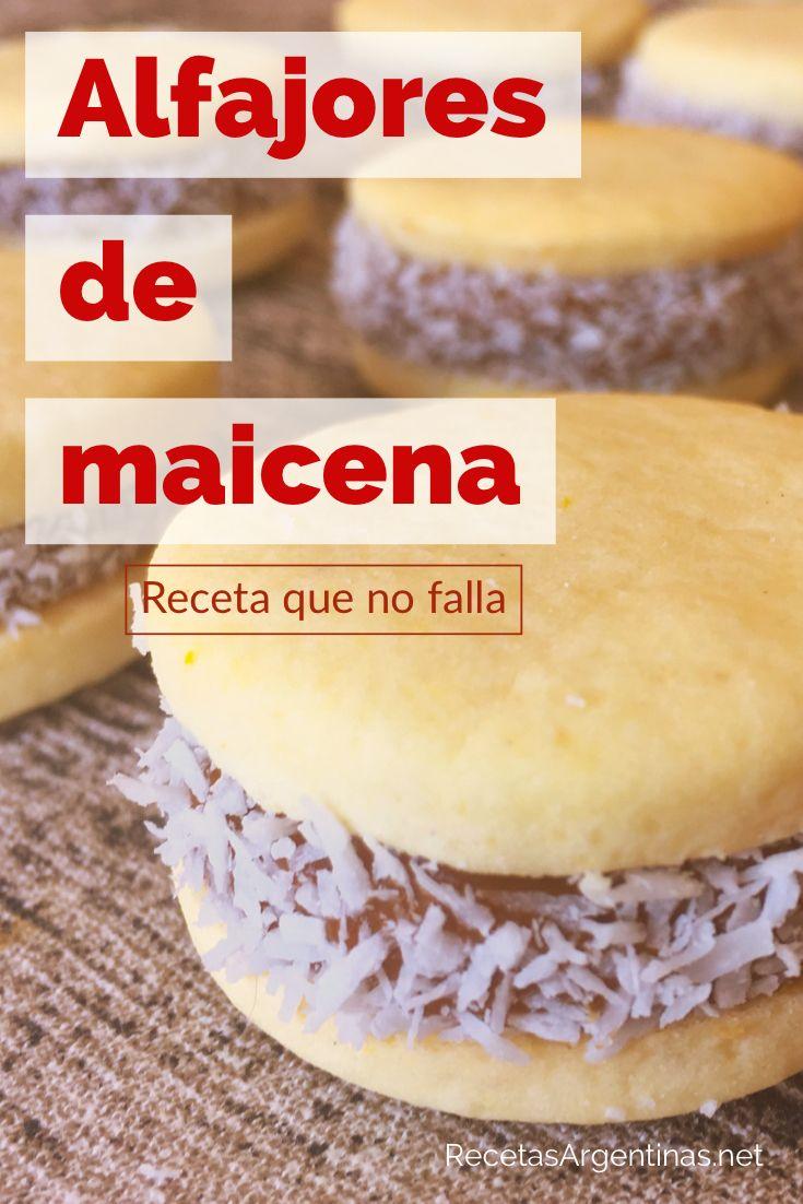Alfajores De Maicena Recetas De Cocina Argentina Fáciles Receta Alfajores De Maicena Alfajores Receta Recetas Faciles Postres