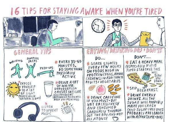 Ways To Stay Awake Inspiration Energy Amping Infographics  Pinterest  Tired