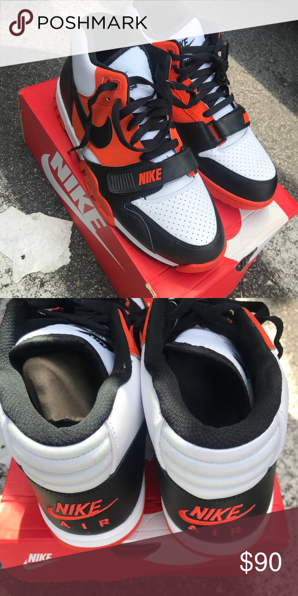 detailed look c0d52 db32f Nike Air Trainer 1 Mid QS Deadstock Nike Air Trainer 1 Mid QS Deadstock  Size 11 Black Orange  White BRAND NEW! Nike Shoes Sneakers