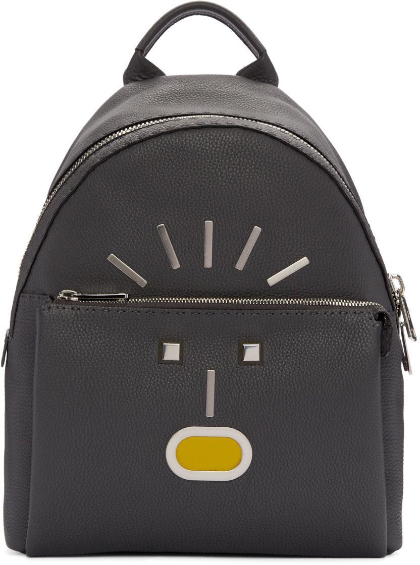 FENDI Grey New Monster Backpack.  fendi  bags  leather  lining  backpacks   d939ddba0e625
