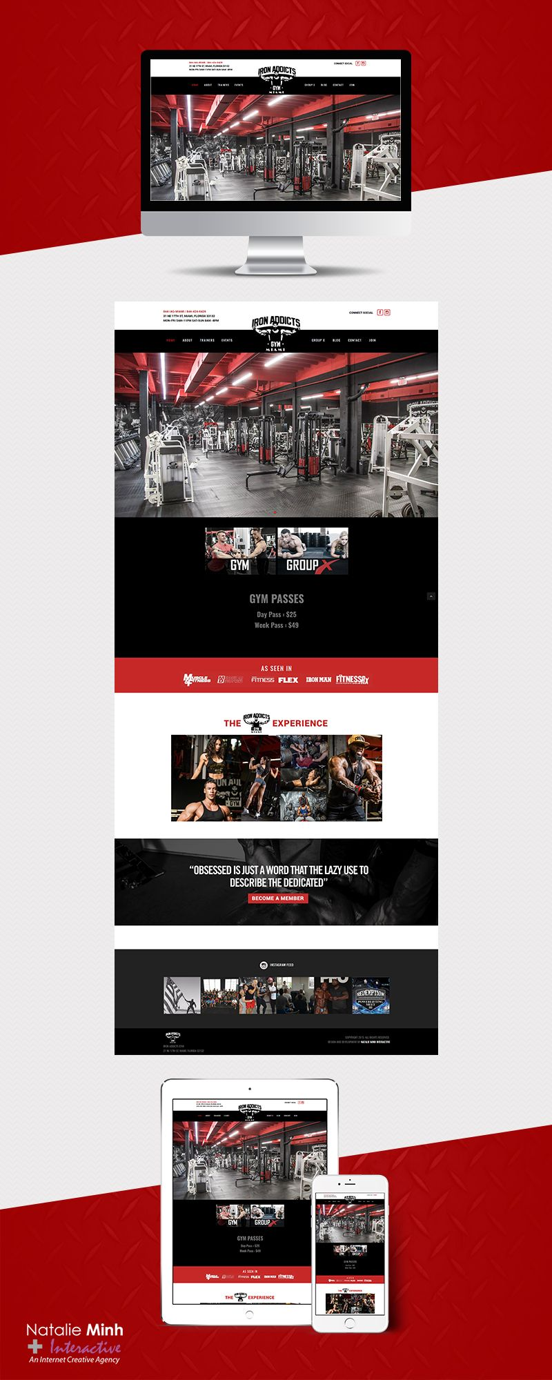 Iron Addicts Gym Miami Website Design and Development by Natalie Minh Interactive www.natalieminhinteractive.com