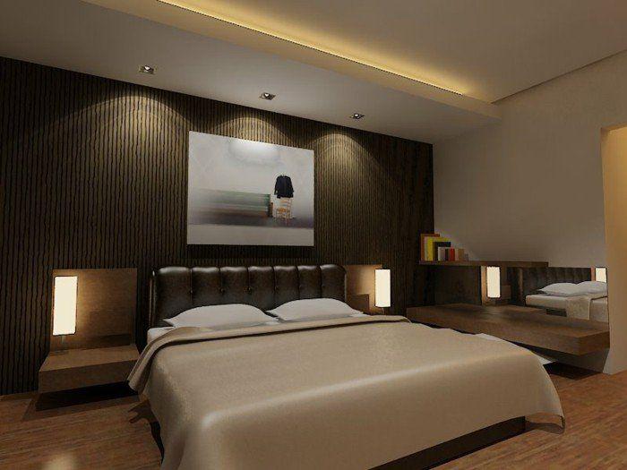 Braune Wandgestaltung Die Braun Farbe Im Schlafzimmer