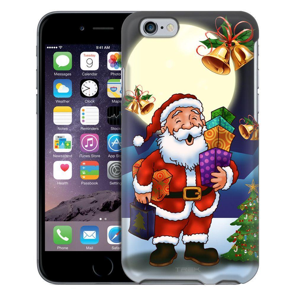 Apple iPhone 6 Merry Christmas Santa in Moon Light Case