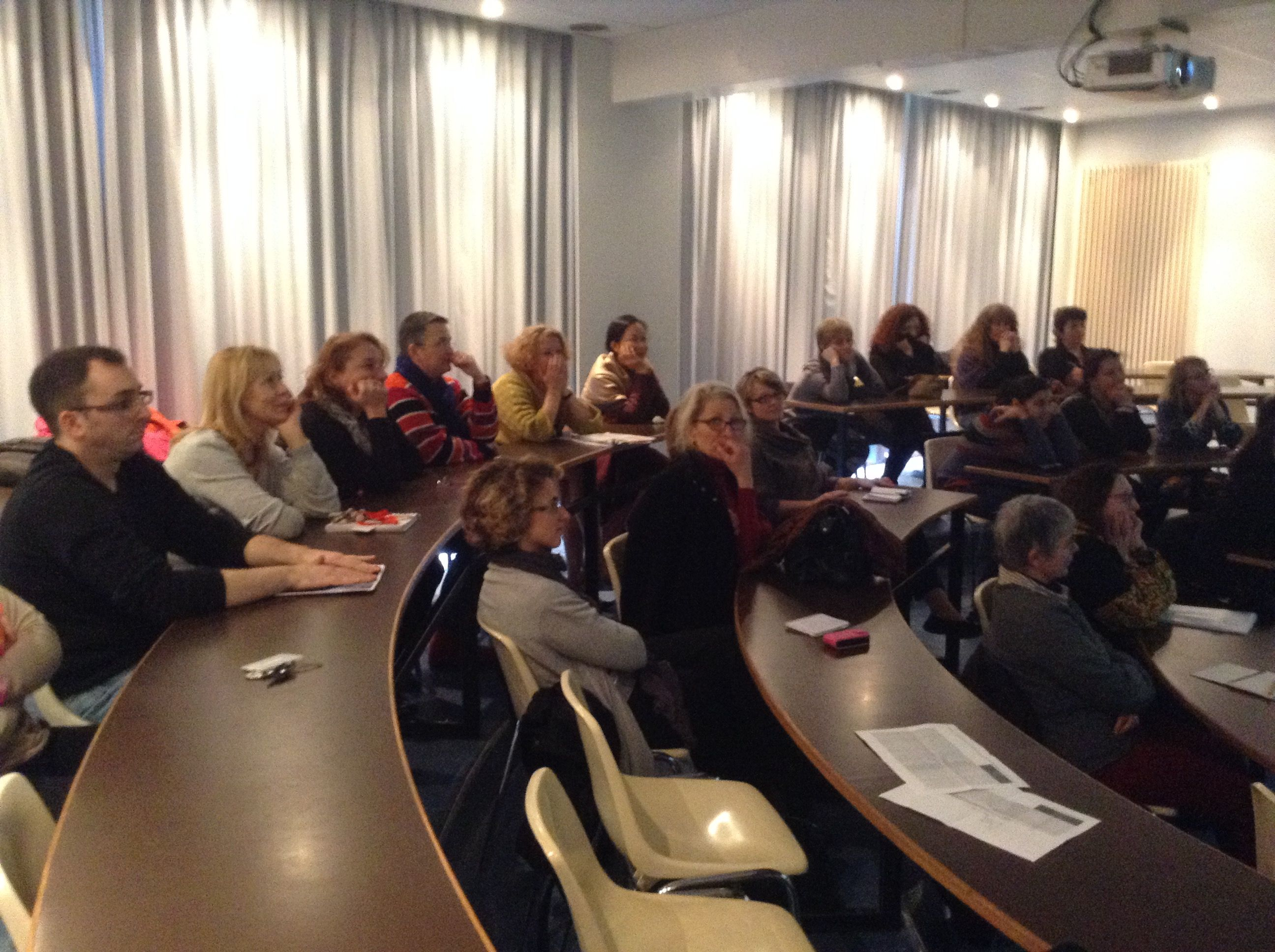 Jan. 29, 2015. Experience Sharing Presentation on the 'Eastern Coast of the USA'. 26 Participants.