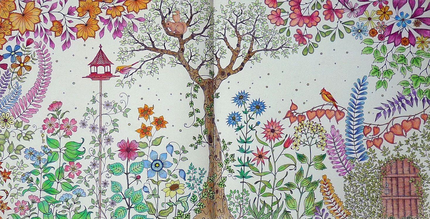 Gekleurd door Marianne in het boek: Mijn geheime tuin.