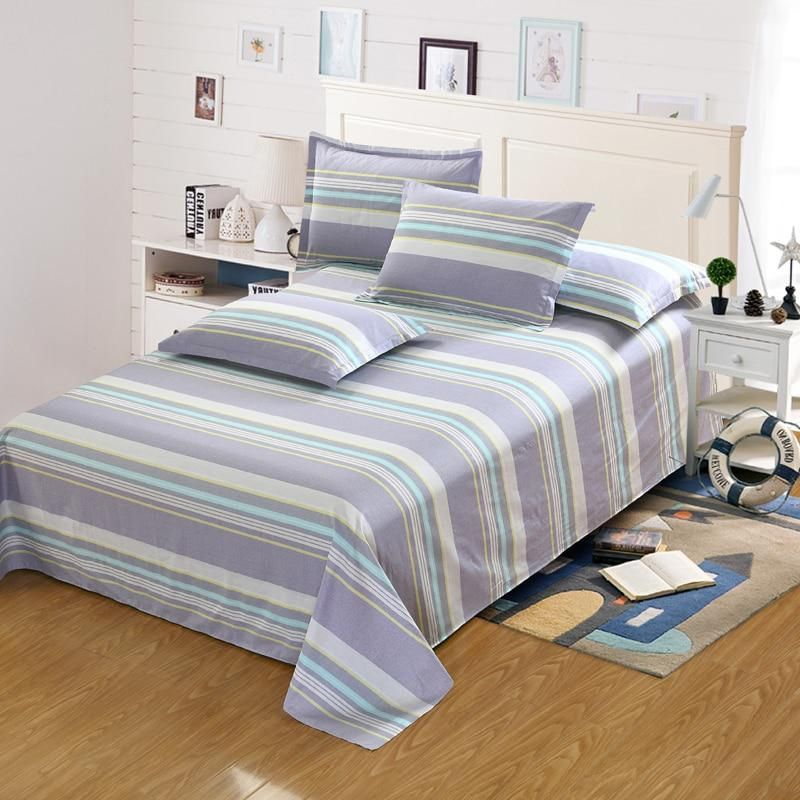 100%Cotton stripes flat sheet Men women children bedding include bed flat  sheet pillowcase twin full queen king size bedspread. Yesterday s price  US   20.59 ... 801a38e7ce