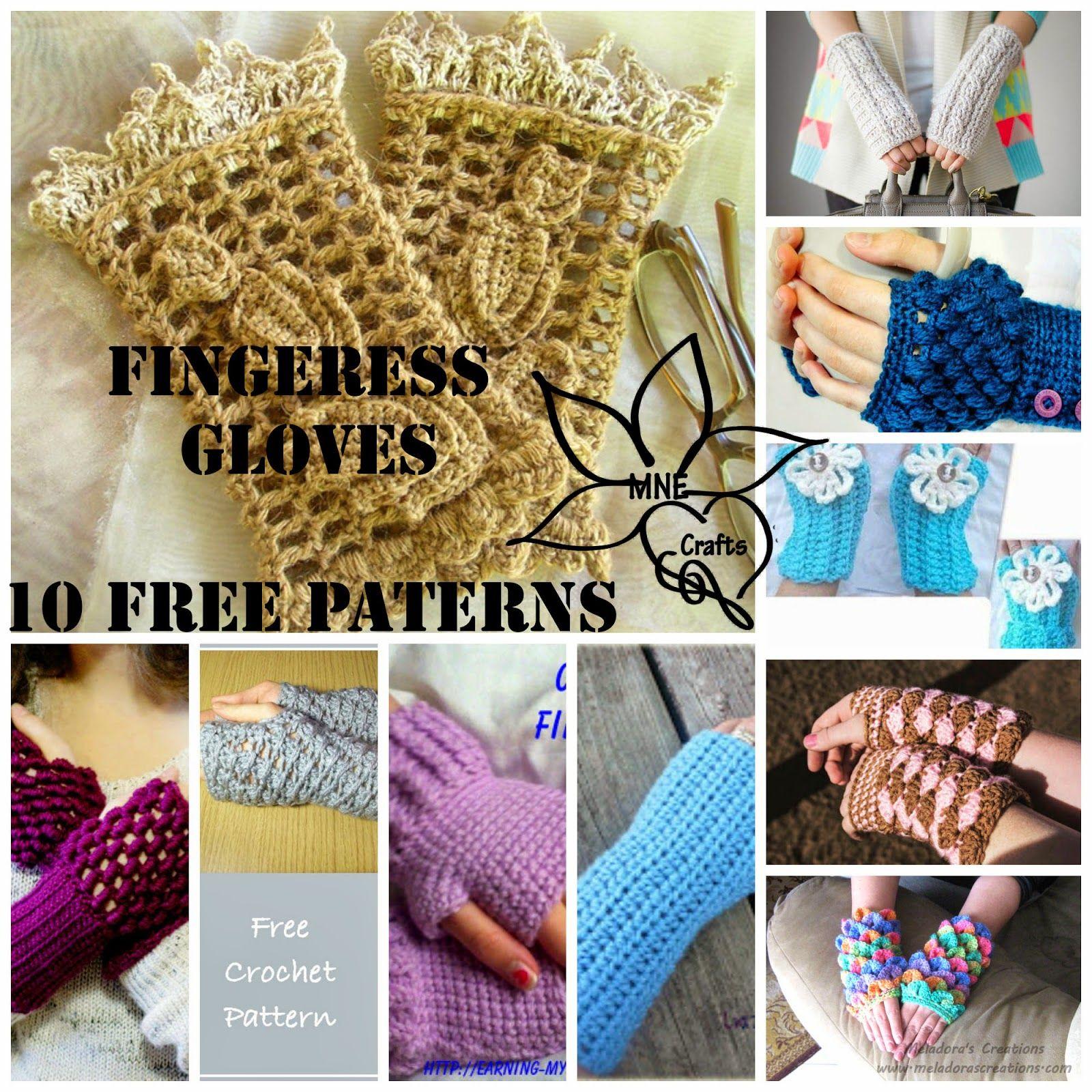 MNE Crafts: Fingerless Gloves Round Up - 10 Free Patterns | hands ...