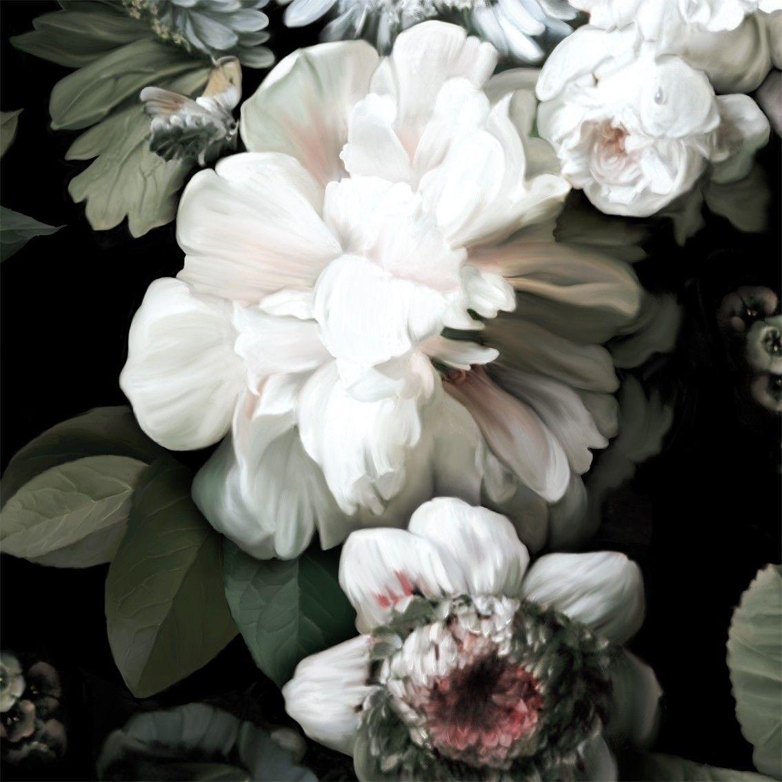Dark Floral Wallpaper Vintage Floral Wallpapers Ellie Cashman