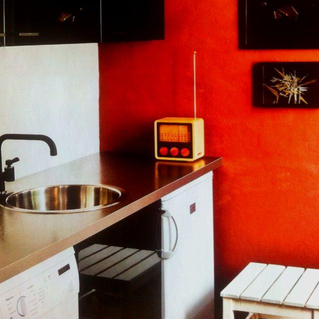 kitchen small home design decor interior orange black sink radio tiny kitchen small on kitchen interior top view id=13123
