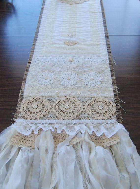 VINTAGE White LACE RIBBON WEDDING TRIM Bridal Shabby rustic