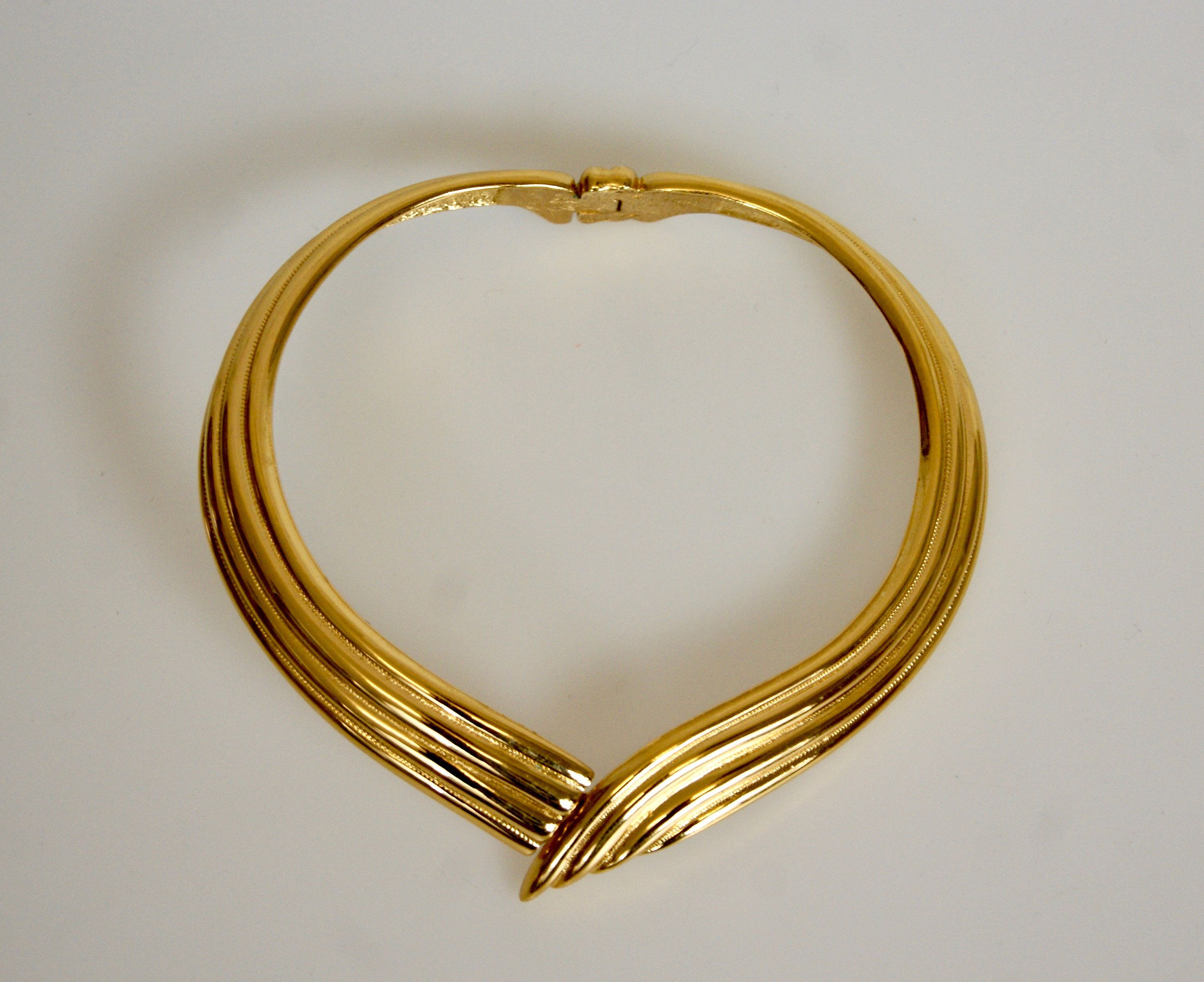 YSL Paris Elegant Vintage Chunky Choker Necklace JEWELRY