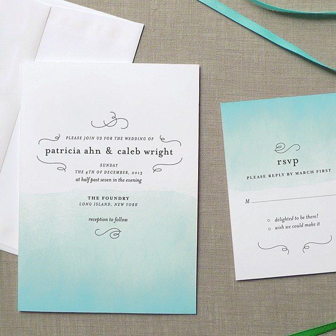 21 wedding invitation wording examples to make your own wedding ombre blue and white wedding invitation for a florida destination wedding filmwisefo