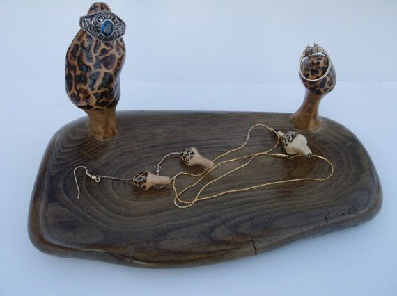 Morel Mushroom Dresser Caddy Jewelry Organizer Mushrooms