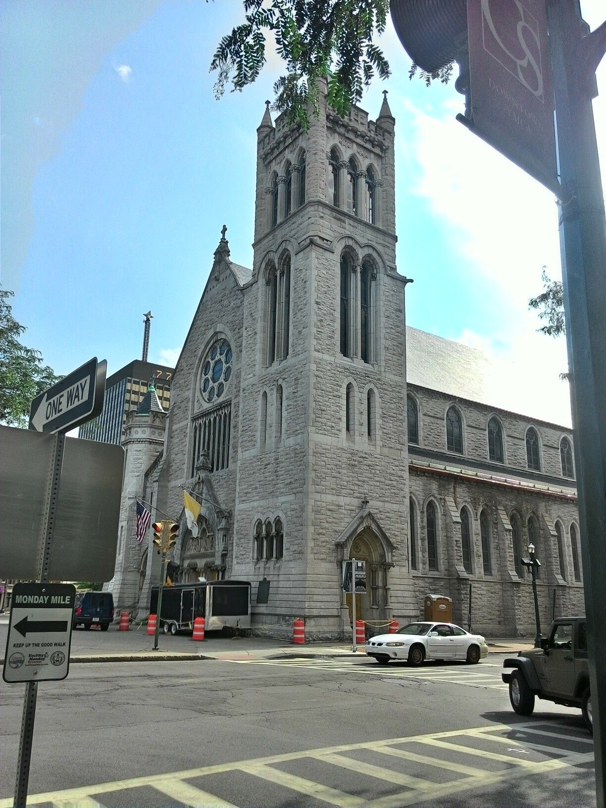 One of the main catholic churches in syracuse ny it s downtown on columbus circle