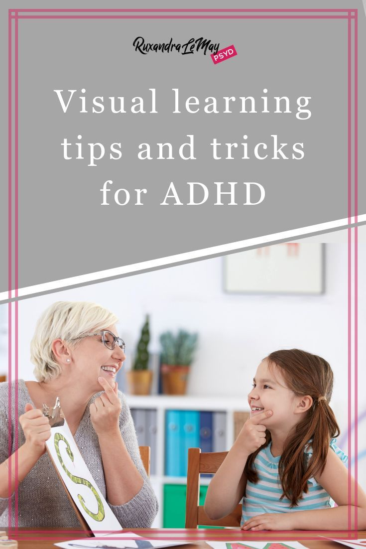 Visual Learning Tips & Tricks for ADHD is part of Visual learning, Adhd students, Visual learning strategies, Effective teaching, Adhd teaching, Improve communication skills - For students with ADHD, finding out their preferred and most effective way of learning is a huge foundational step that will save lots of time