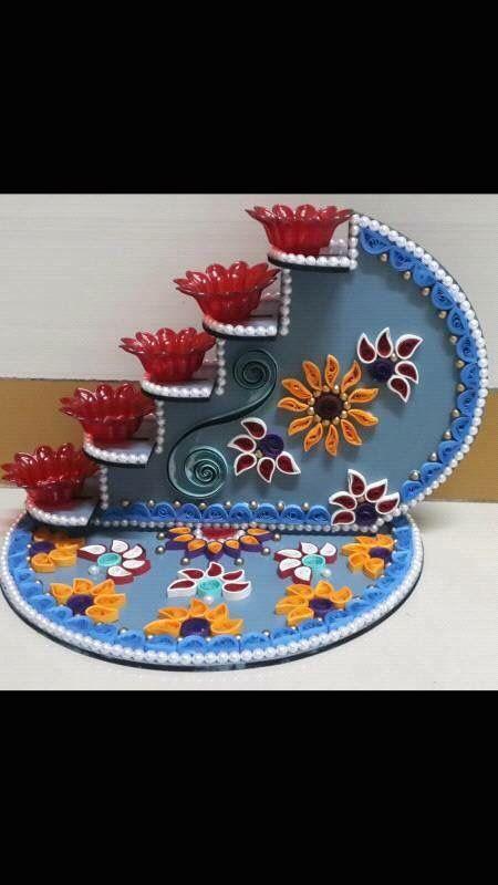 Beautiful Diya Stand Diwali Craft Diy Diwali Decorations