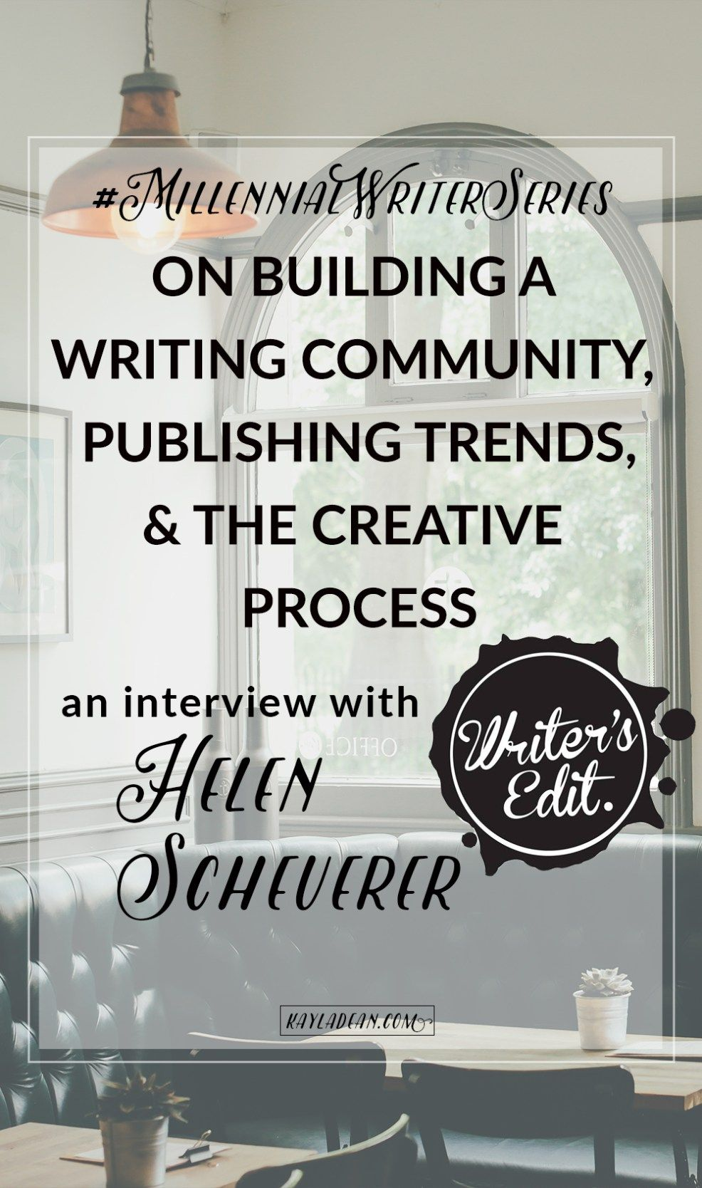 Get advice from Writer's Edit founder Helen Scheuerer, who will publish her third anthology and first novel later this year.