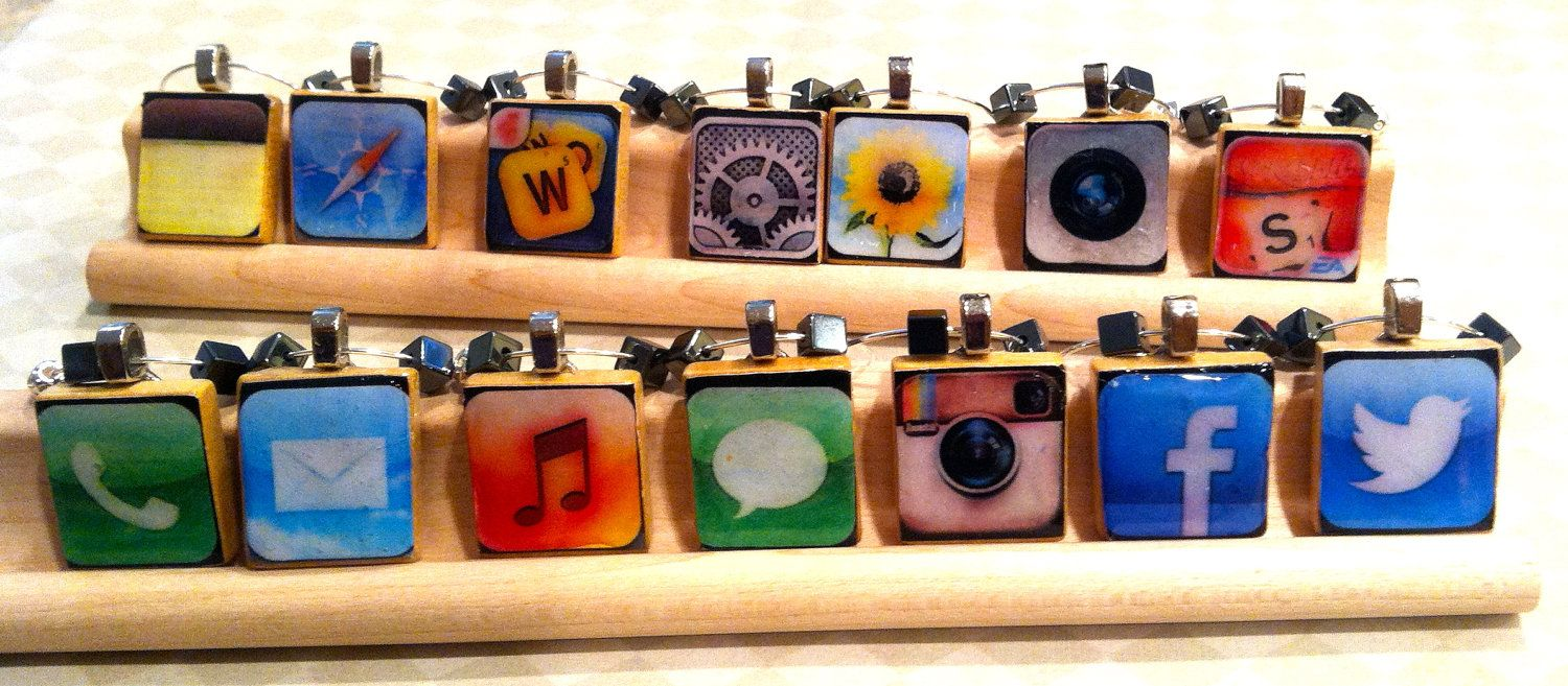 SUPER AWESOME! Lol! iPhone App Scrabble Tile Wine Charms