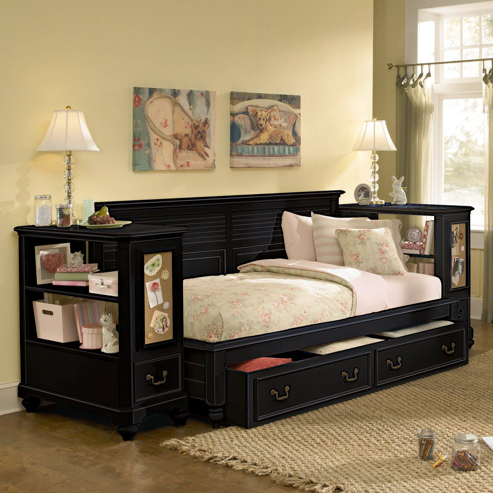 Captivating Full Size Daybed With Trundle For Bedroom Furniture Ideas Black DaybedUnder