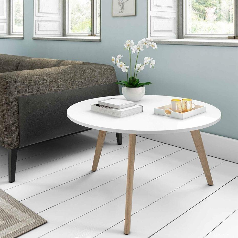 Mesa De Centro Redonda Estilo Nordico Marcus Demarques Es Diy  # Muebles Tipo Ikea