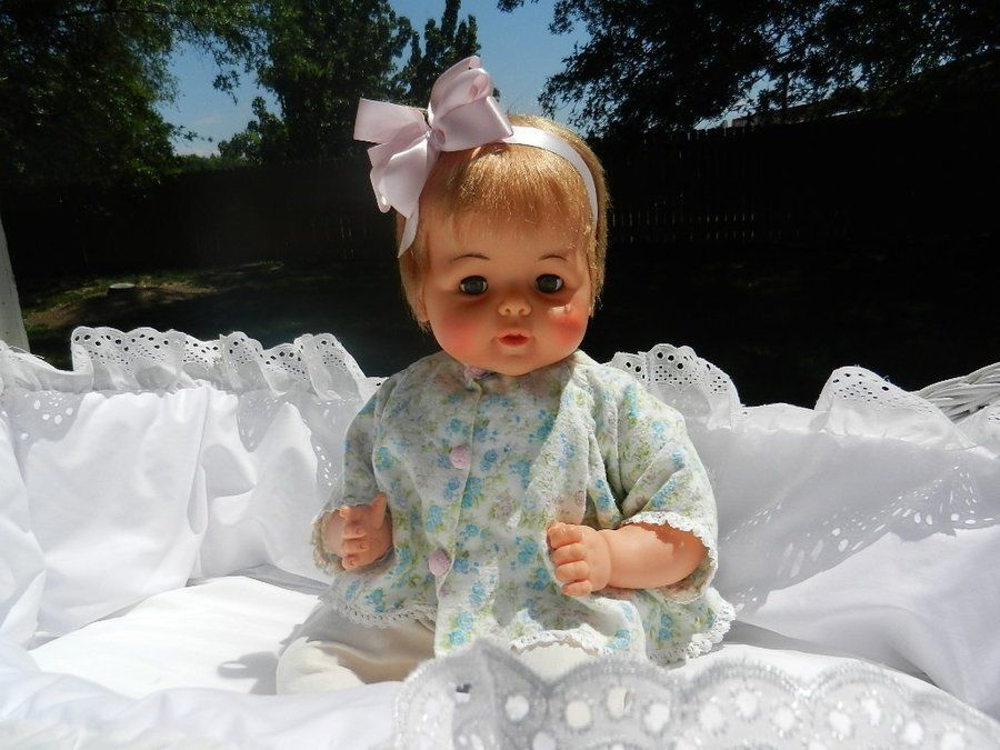 21 Ideal Snoozie Wind Up Baby Doll Head Moves Her Eyes Move Too