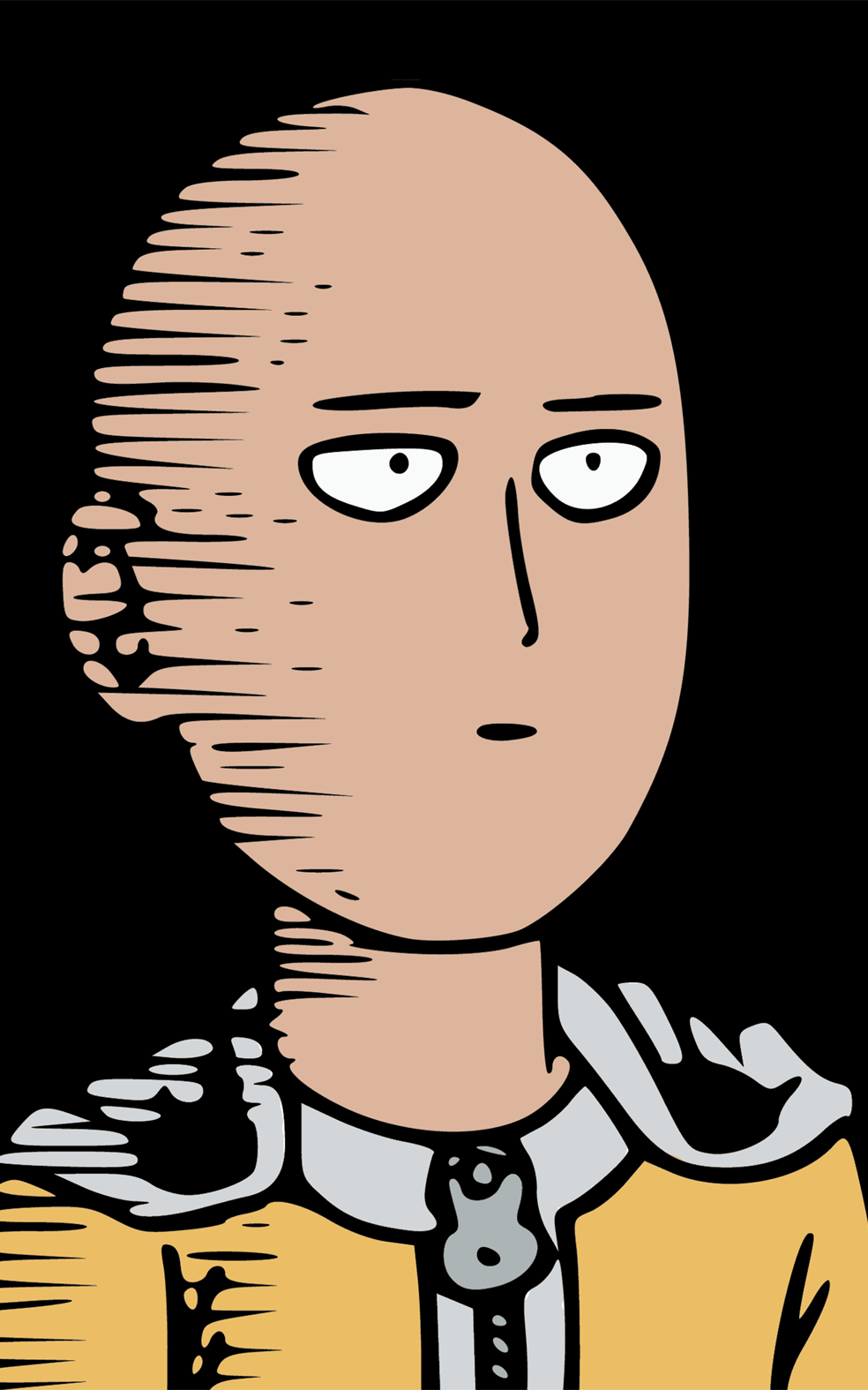 Saitama Seni Anime Gambar Serigala Animasi