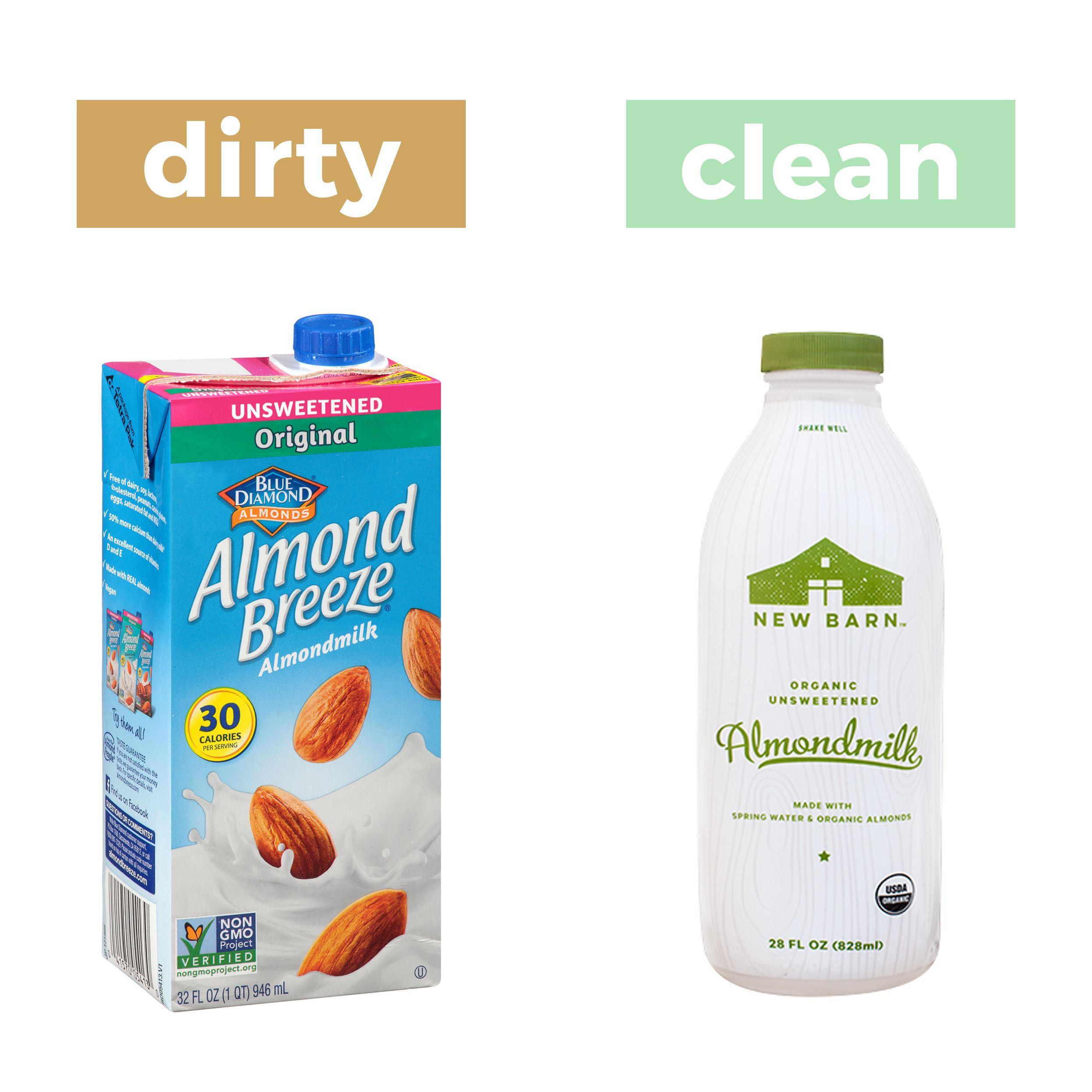 New Barn Organic Unsweetened Almond Milk Carageenan Free