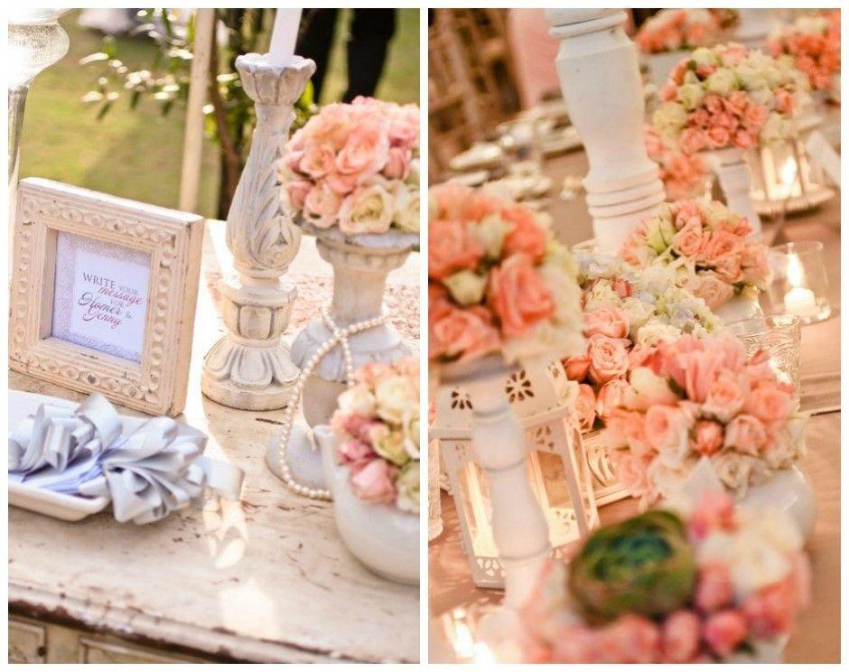 Peach Reception Decor By K Cunanan Reception Wedding Motifs And Quinceanera Ideas