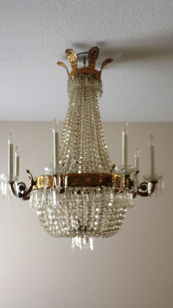 Gorgeous estate french empire bronze and crystal chandelier sale gorgeous estate french empire bronze and crystal chandelier sale 1000 off frenchempirebronze aloadofball Images
