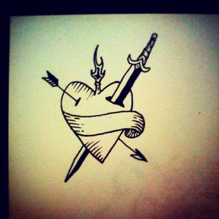 Little heart #tattoo #tattooart #tattoodesign #tattooflash ...