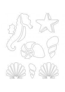 photograph relating to Free Printable Beach Stencils called Absolutely free Printable Beach Stencil printables Stencil