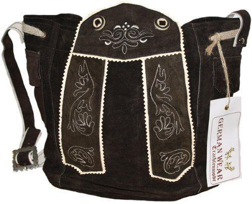 Ladies Bavarian Trachten Dirndl Bags Leather Bag Dark Brown Http